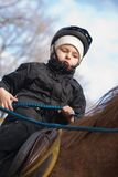 Boy Riding School Stock Image