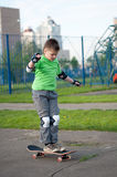 Boy riding a skateboard Royalty Free Stock Photography