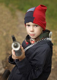 Boy with the rifle Royalty Free Stock Images