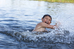 Boy in river Royalty Free Stock Photography