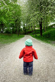 Boy on road stock photography