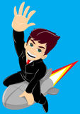 Boy with rocket Royalty Free Stock Photography