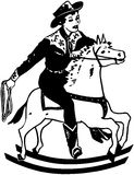 Boy On Rocking Horse Royalty Free Stock Image