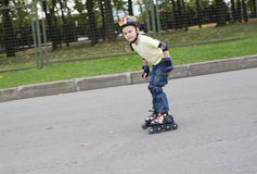 The boy on the roller blades Royalty Free Stock Images