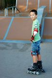Boy with roller blades Stock Photo