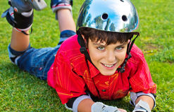 Boy in roller blades Royalty Free Stock Image