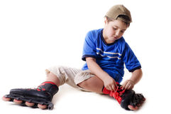 Boy on roller skates Royalty Free Stock Photos