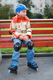 Boy in the rollerblade Royalty Free Stock Image