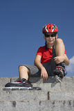 Boy in the rollerblades Stock Photography