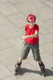 Boy on the rollerblades Royalty Free Stock Photos