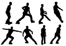 Boy rollerblading. Boy on roller skates, hobbies, entertainment, recreation Stock Image