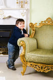Boy in the room Stock Photography