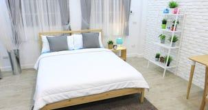 Boy room Decoration in bedroom interior stock video