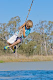 Boy on rope Royalty Free Stock Images