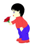 Boy with rose Royalty Free Stock Images