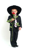 Boy with rose Royalty Free Stock Photography
