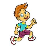 Boy Run Royalty Free Stock Photo