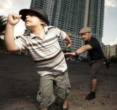 Boy on the run Stock Image