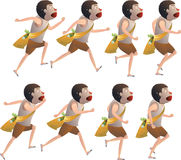 Boy run cycle. Animation character Royalty Free Stock Photography