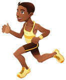 Boy is running Stock Image