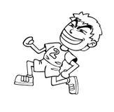 Boy running Stock Image