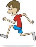 Boy Running. Vector illustration of a boy running Royalty Free Stock Images