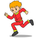 Boy running character style design Royalty Free Stock Photos