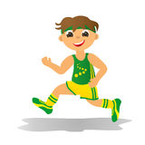 Boy running Royalty Free Stock Photos