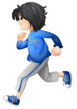 A boy running Royalty Free Stock Image