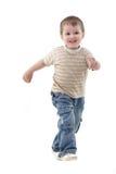 Boy running over white Stock Image