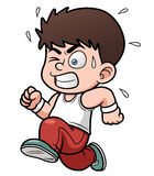 A boy running. Vector illustration of a boy running Royalty Free Stock Photos