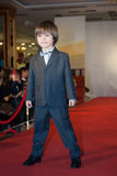 The boy on the runway at a fashion show Royalty Free Stock Image