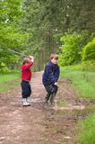 Boy's being boy's royalty free stock photos