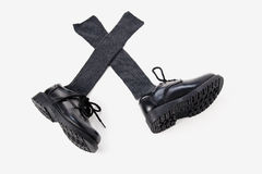 Boy's dress shoes royalty free stock photography