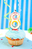 Boy's eighth birthday Royalty Free Stock Photo