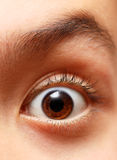 Boy's eye Royalty Free Stock Photo