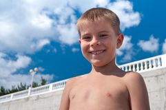 The boy's face Stock Photo