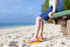 Boy's feet at the beach Royalty Free Stock Photography