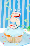 Boy's fifth  birthday Stock Photos