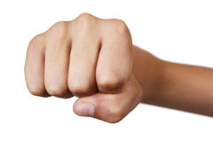 Boy's fist Stock Photography
