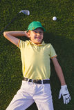 Boy`s golfer dreams Stock Photography
