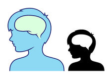 Boy's head and brain Stock Photo