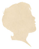 Boy's Paper Silhouette Royalty Free Stock Images