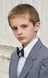 Boy's portrait. In front of the school Royalty Free Stock Images