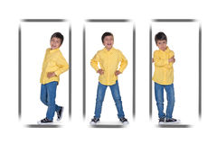 The boy's portraits. With various emotions Stock Images