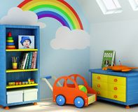 Boy's room royalty free illustration