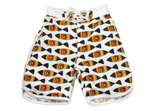 Boy's Shorts. On White Background Stock Photography