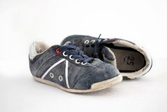 Boy's sneakers isolated on white Royalty Free Stock Photography
