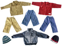 Boy's spring clothes Royalty Free Stock Photos