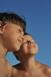 Boy's on summer vacation Royalty Free Stock Photo